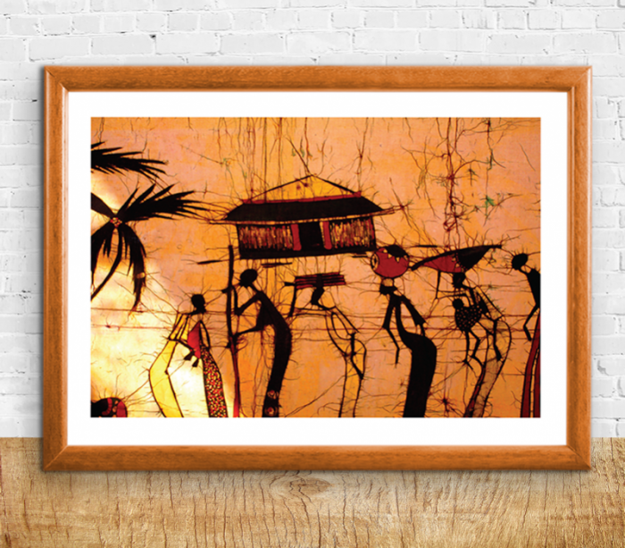 African Village Print B - Sizes A4/A3