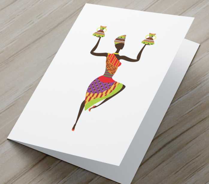 African Woman Card AR