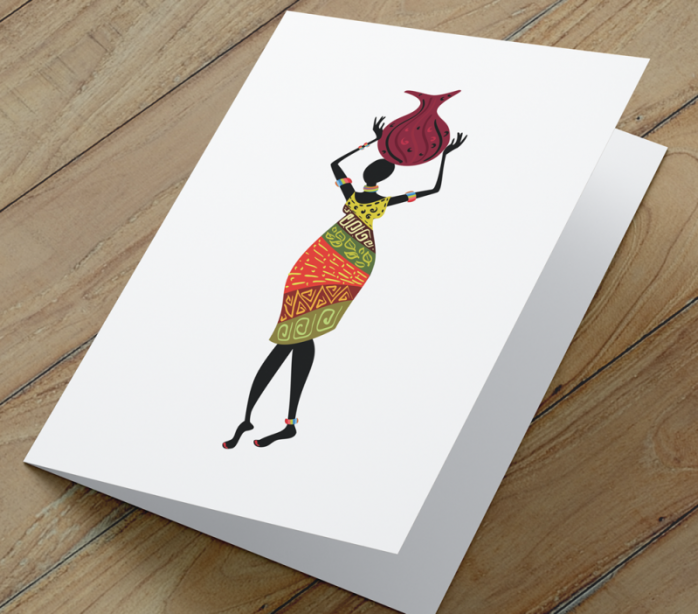 African Woman Card H