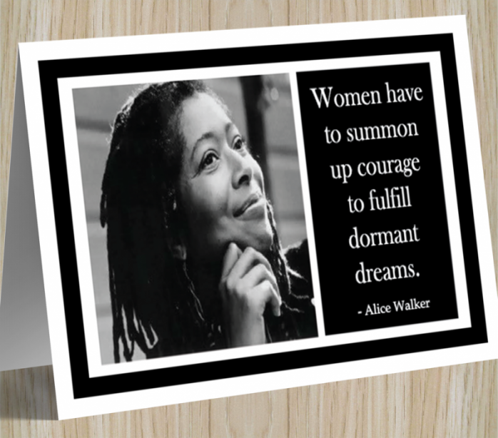 Inspirational Card - Alice Walker