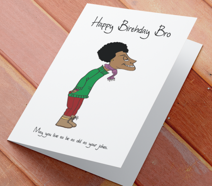 African American Man Birthday Card A - Brother