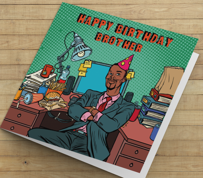 African American Man Birthday Card P - Brother