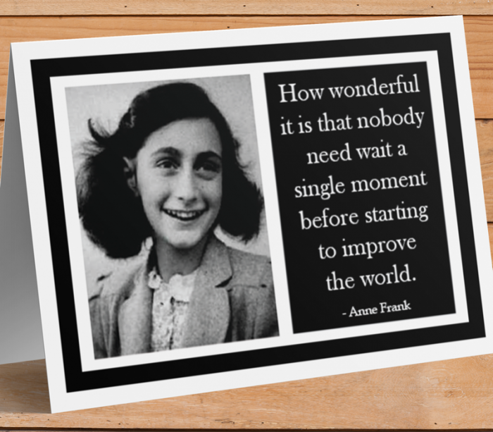Anne Frank Inspirational Card