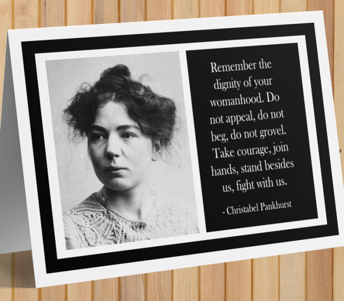 Christabel Pankhurst Card