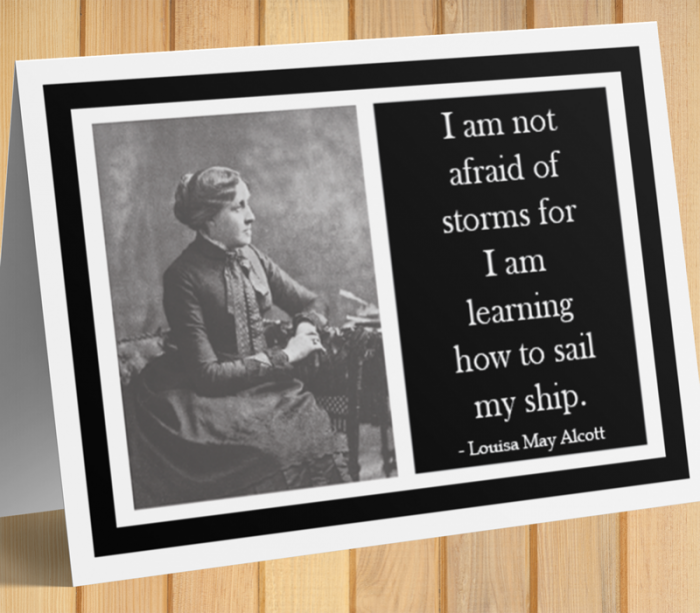 Louisa May Alcott Inspirational Card