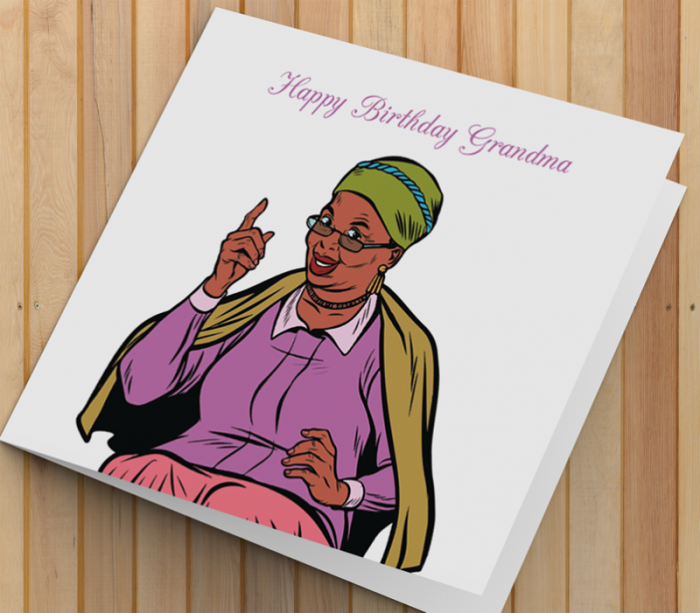 African American Woman Birthday Card U - Grandma