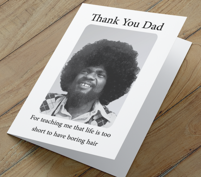 African American 'Boring Hair' Father's Day Card
