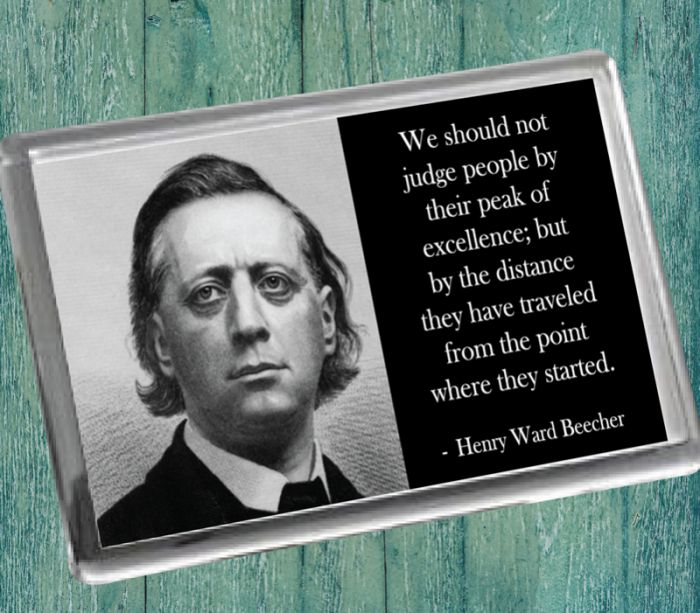 Henry Ward Beecher Fridge Magnet