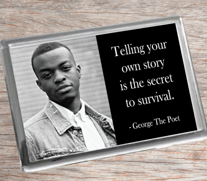 George The Poet Fridge Magnet