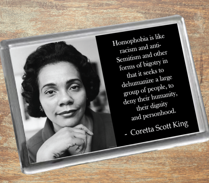 Coretta Scott King Fridge Magnet