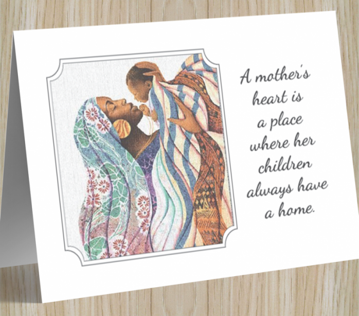 African American 'A Mother's Heart' Mother's Day Card
