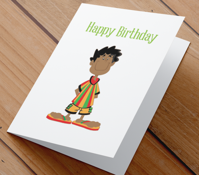 African American Boy F Birthday Card