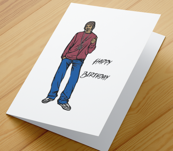 African American Boy H Birthday Card