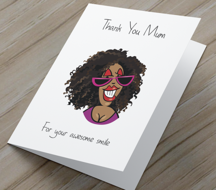 African American 'Awesome Smile' Mother's Day Card