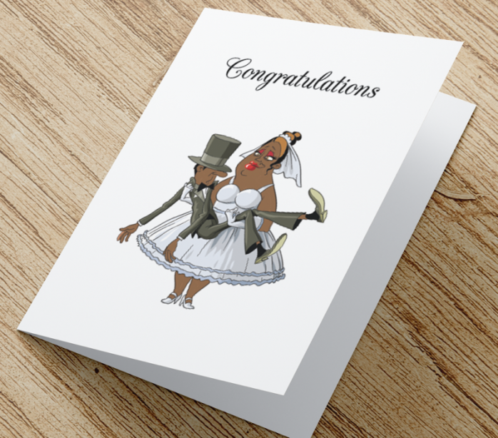 African American Wedding Card A