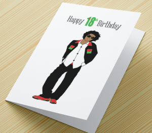 African American Boy C - Age 18 Birthday Card