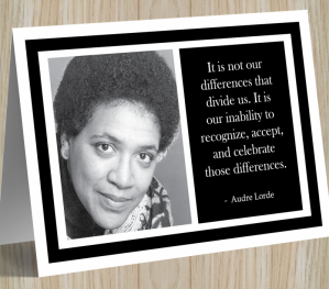 Inspirational Card - Audre Lorde