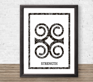3 African Adinkra Prints - Sizes A4/A3