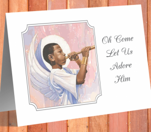 'Adore Him' African American  Christmas Card