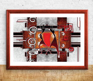 African Abstract Print B - Sizes A4/A3