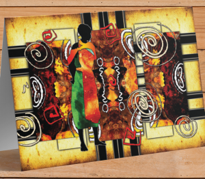 African Themed Card H
