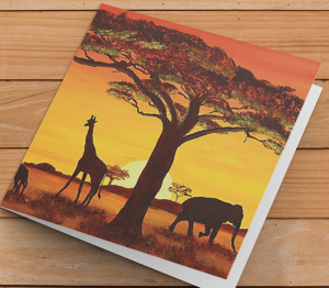 African Themed Card K