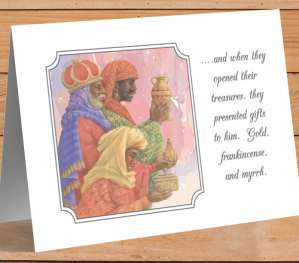 African American 3 Wise Men Christmas Card