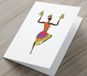 African Woman Card A
