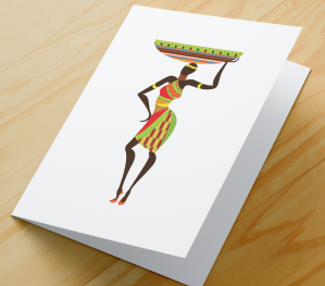 African Woman Card BR