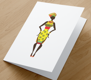 African Woman Card CR