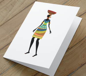 African Woman Card F