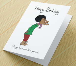 African American Male Birthday Card A