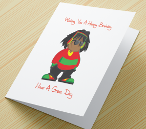 African American Boy Birthday Card B