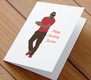 African American Man Birthday Card V - Brother