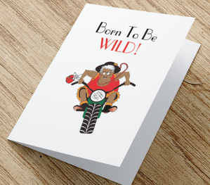 'Born To Be Wild' African American Card