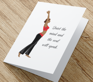 African American Yoga Card D