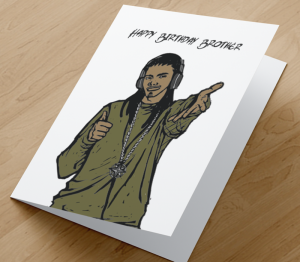 African American Boy I - Brother Birthday Card