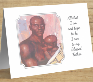 African American 'Blessed' Father's Day Card