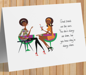 African American Card - Friends Are Like Stars A