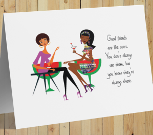 African American Card - Friends Are Like Stars C