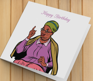 African American Woman Birthday Card U