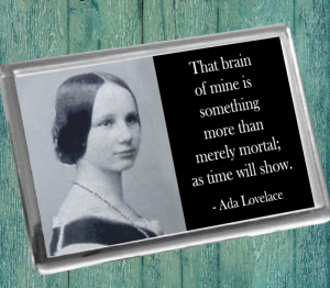 Ada Lovelace B Fridge Magnet