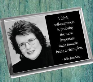 Billie Jean King Fridge Magnet