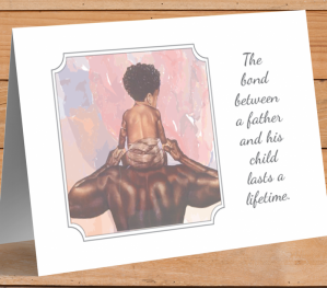 African American 'Father & Child' Father's Day Card