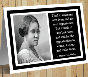Madam C J Walker Card