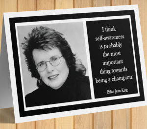 Billie Jean King Inspirational Card