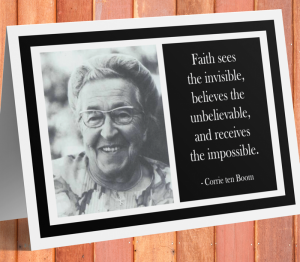 Corrie Ten Boom Inspirational Card