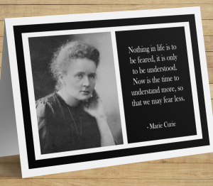 Marie Curie Inspirational Card