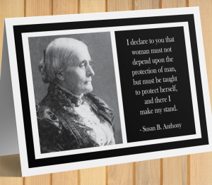 Susan B. Anthony Card