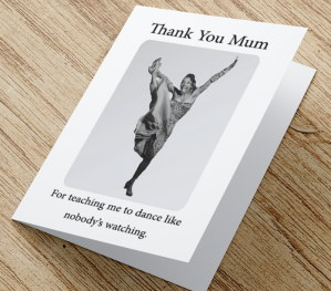 African American 'Dance Like Mum' Mother's Day Card